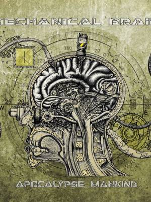 Industrial music album cover art: Mechanical brain
