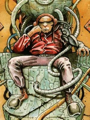 A cyberpunk comic: Devlok, the Techno-Templar. Book Two