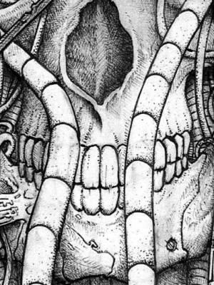 Cyberpunk ballpoint pen illustration: de Hypterion 1
