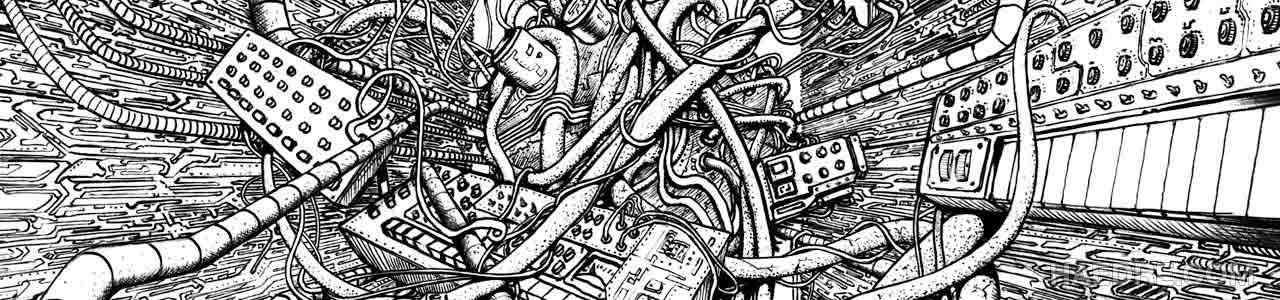 narcosis records art, ballpoint pen illustration for record album cover